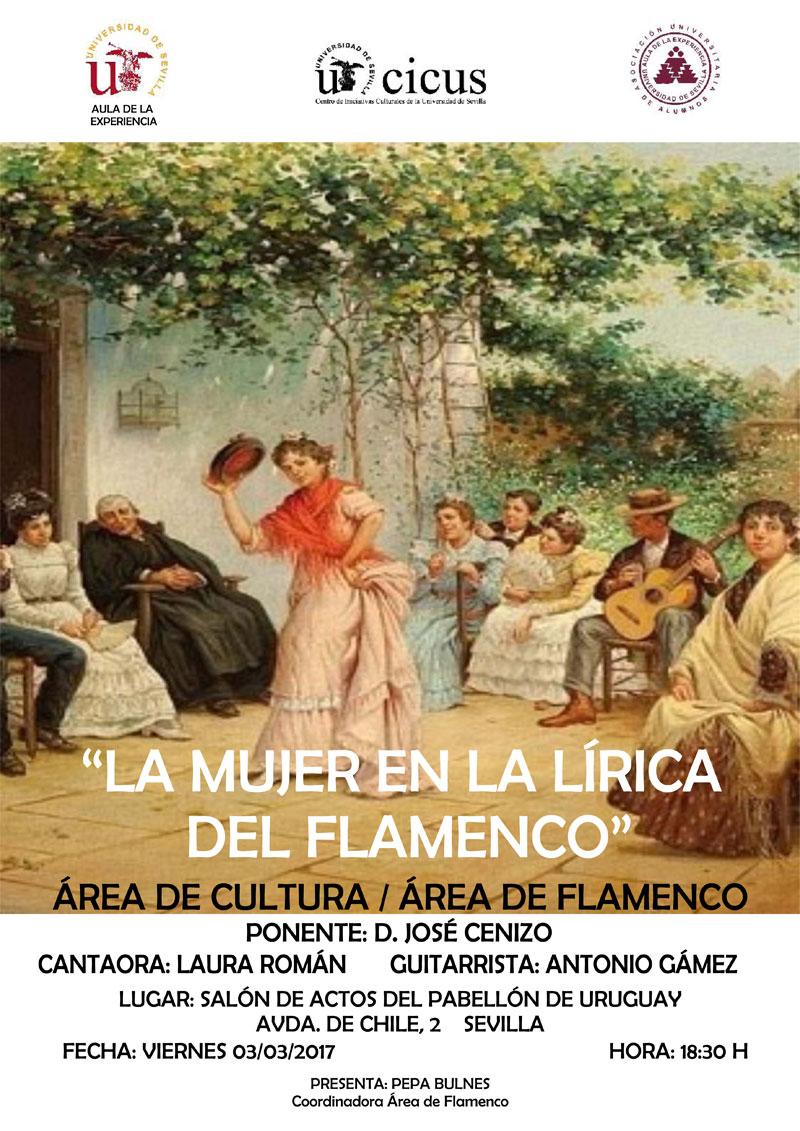 La mujer en la lírica del flamenco (cartel)