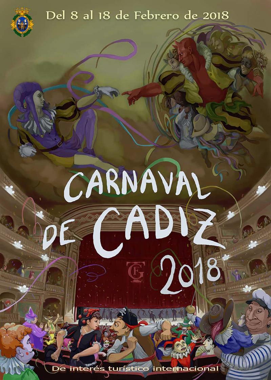 Cartel oficial del Carnaval de Cádiz 2018