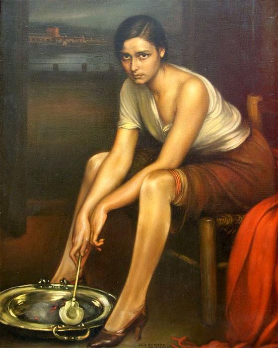La chiquita piconera, obra de Julio Romero de Torres (1930)