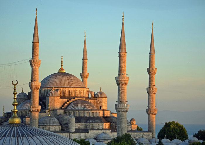 Mezquita del Sultán Ahmed o Mezquita Azul en Estambul (Turquía)