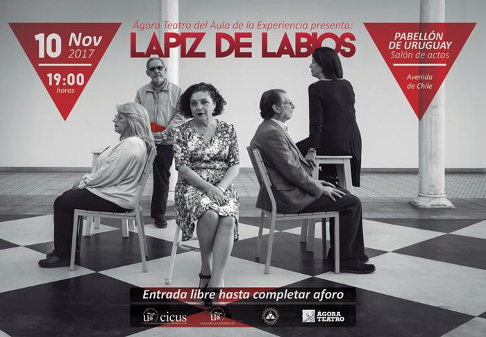 Cartel de la obra de teatro 'Lápiz de labios'